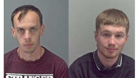 Mihai Nichitoi (left) and Wesley Spring were jailed at Ipswich Crown Court