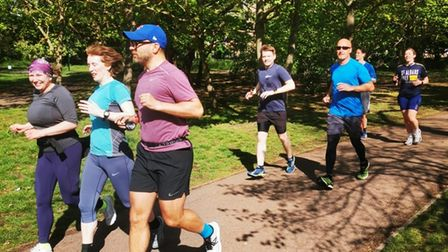 Running training with the Queen's Park Harriers