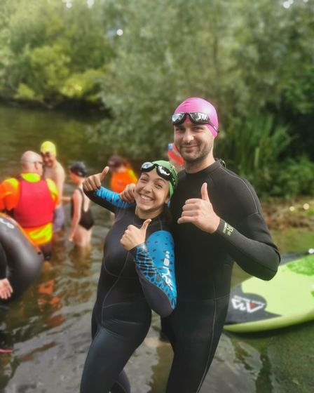 Charlotte and Chay Barroso are fundraising for Malorees Infant and Junior School at the Blenheim Palace Triathlon