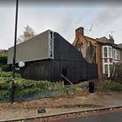 Where the new 5G mast would stand at 141Archway Road, near St Augustine's church