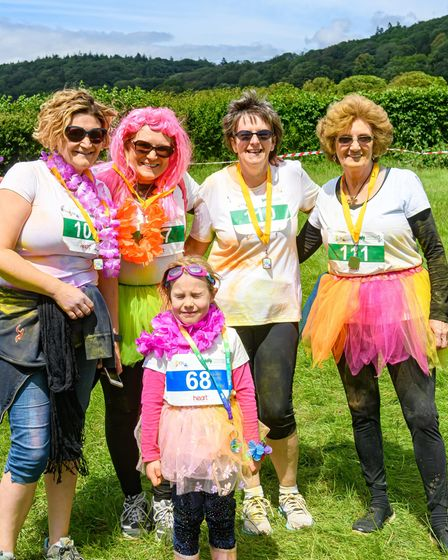 Supporters taking part in the Rainbow Run.