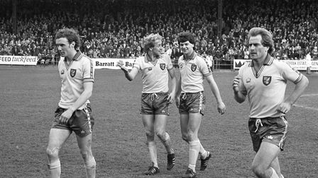 NCFC V Ipswich (1-0) on Monday 20th April 1981. Photo: Archant Library