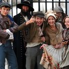 Child actors on set for their roles in a BBC production of Oliver Twist scheduled for later this yea