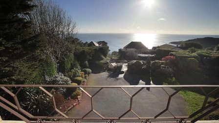 Balcony view from The Rise, a property overlooking Langland Bay. The perfect accommodation for a staycation in Wales.