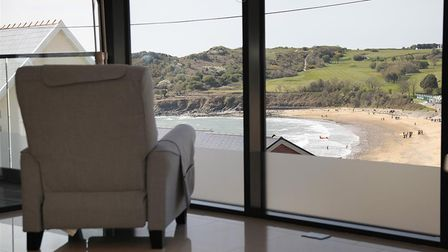 Accommodation overlooking Langland Bay in Mumbles for a UK staycation in South Wales.