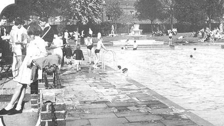 Brentwood's open air swimming pool
