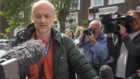 Prime Minister Boris Johnson's top aide Dominic Cummings leaves his north London home. Photograph: Yui Mok/PA Wire