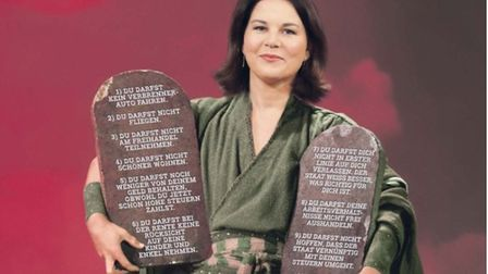 An attack advert against Green Party candidate Annalena Baerbock
