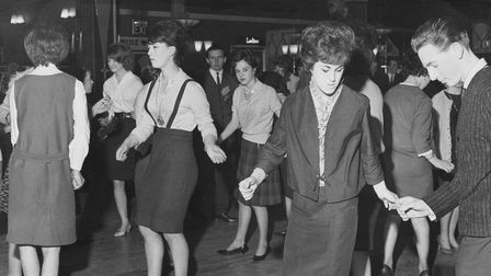 """PeopleThe """"Teen Beat Night"""" at the Samson and Hercules, Norwich. The dances that evening include"""