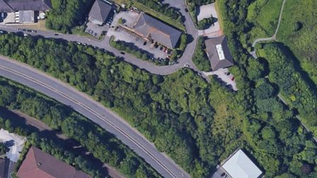 Location of proposed car park for Torbay Hospital, north of Riviera Way, Torquay