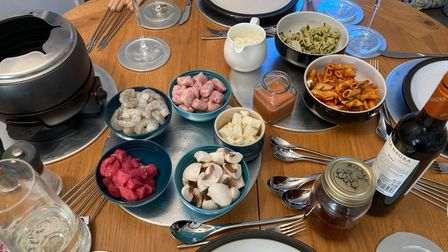 Fondue was the main, which DebbieMoney said was easy as everyone can serve themselves.
