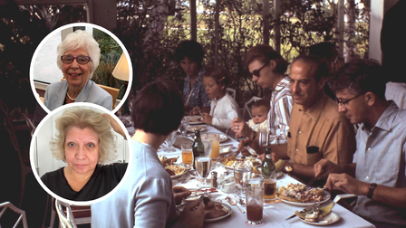 Debbie Money, inset bottom, is recreating dinner parties thrown over a 50-year period by her mum Patsy Turner, inset top.