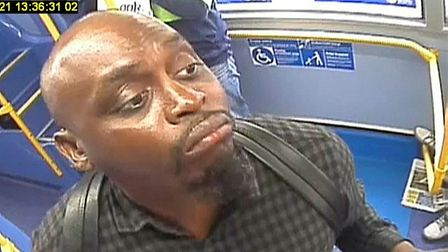 Police released the CCTV image as part of their investigation into indecent exposure on a Kilburn bus