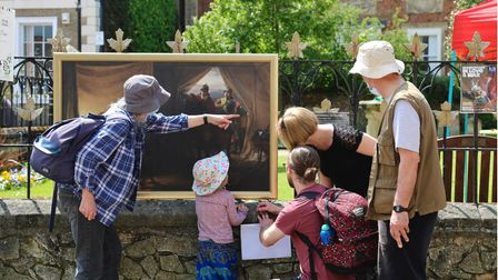 Can you spot Cromwell? The Art Trail in Huntingdon is expected to run until the end of July 2021