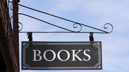 Photo of a sign on a bookstore