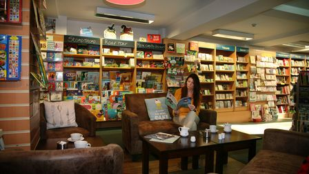 The cosy White Rose Book Cafe