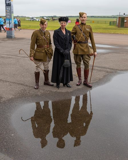 Living history 1900-1945 re-enactors at the IWM Duxford Father's Day flying day
