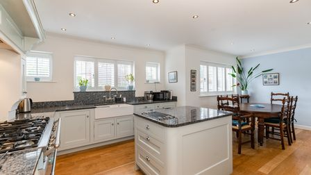The bespoke kitchen was designed by Redbourn-based Fine Fitted Interiors.