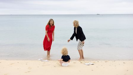 Carrie Johnson, wife of the Prime Minister and First Lady of the United States Dr Jill Biden and Wilfred Johnson
