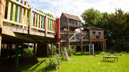 The adventure playground is one of many in London created by charity KIDS for children with disabilities.