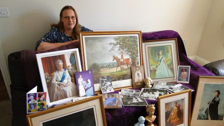 Sarah Grant with part of her royal collection
