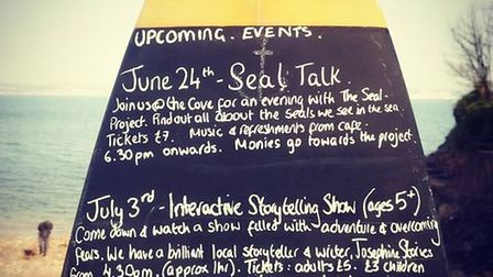 Tonight marks our first event of the season with the Seal Talk at the cove.