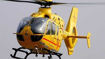 The air ambulance was called to Southwold after a man suffered a medical emergency.