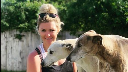 Bex Letts with her two dogs.
