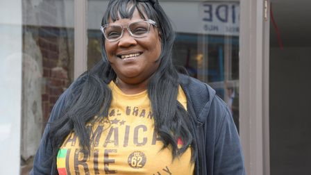 Eileen Eastaugh-Nascoll who will be opening a Jamaican resteraunt, Jamaikin' Mi Hungry, at 160 King