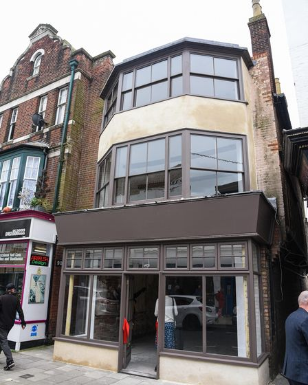 A building on 160 King Street in Great Yarmouth which has been preserved by the Preservation Trust a