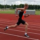 Ed Laws ofStevenage & North Herts Athletics Club in action at Bedford