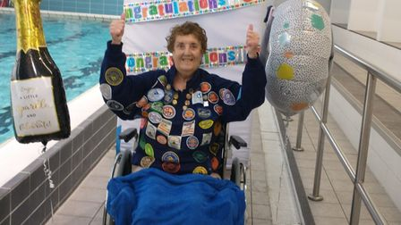 Betty Brown raising money for Captain Tom's 100 challenge in aid of Marie Curie.