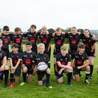 South Molton under-12s face the camera