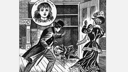 Shock and horror in penny dreadful press of 1890...Millie Jeff's body discovered in cupboard