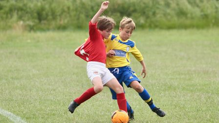 Islington district football youngsters in action
