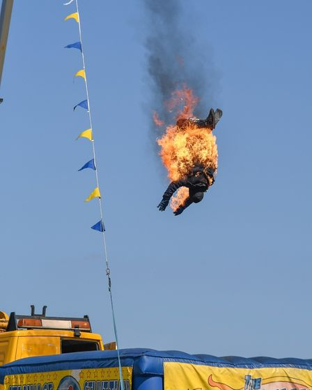 TheStannage stunt team will be a highlight of the Sunday programme at the North Walsham Funday.
