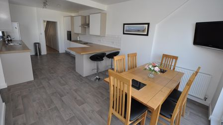 The recently fitted kitchen/dining/family room