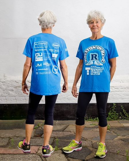 Phillida Shaw took part in the 5k Royston in Blue challenge solo to raise money for Teenage Cancer Trust
