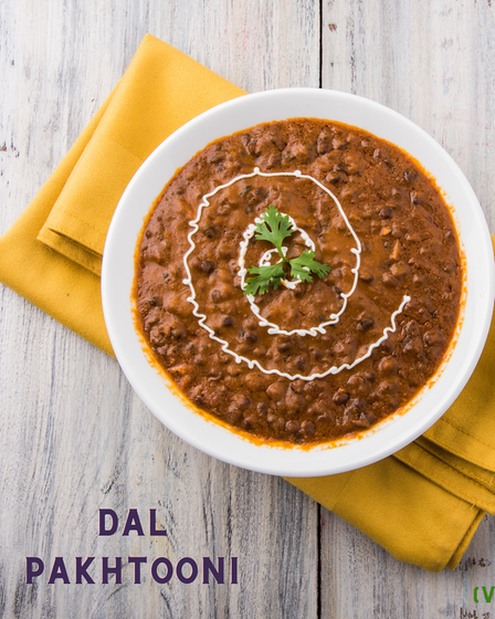 Dal Pakhtooni, creamy tomato textured base black gram lentils, boiled several times for an authentic smoky flavour