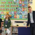 Tom Hunt MP meeting Gusford Primary School pupilsHarrison in Year 5 and Katie in Year 4.