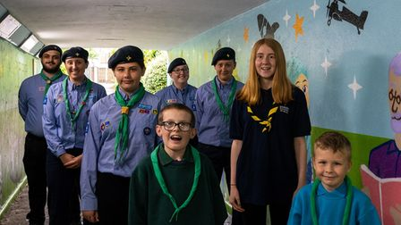 Hatfield Air Scouts who designed the Hatfield subway artwork