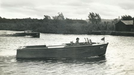 The Juneboats designed by Maurice Davey, one of the founders of Martham Boats, included this open day boat, pictured 1948/9