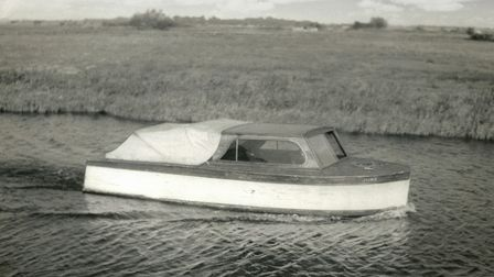The first June boat, built in 1939 by Jimmy Brown, one of the founders of Martham Boats