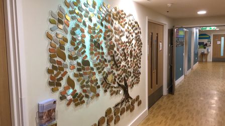 The memory tree at St Elizabeth Hospice in Ipswch