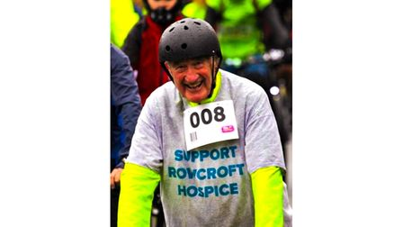 Charity cyclist in cycling gear