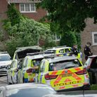 Armed police were spotted in Bowers Avenue, Norwich, on Tuesday morning.