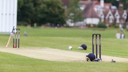 A general view of the pitch at Harpenden Cricket Club