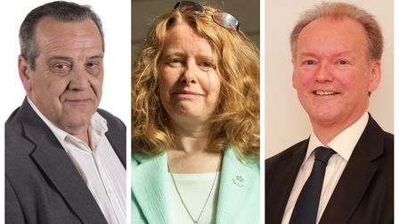 Havering councillors Bob Perry, Gillian Ford and Graham Williamson