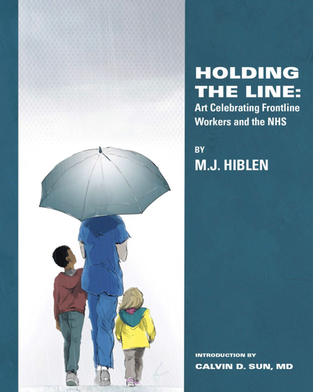 The front cover of M.J. Hiblen's new book Holding The Line