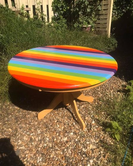 There will be a piece of rainbow furniture in over 30 city pubs, shops, restaurants and cafés.